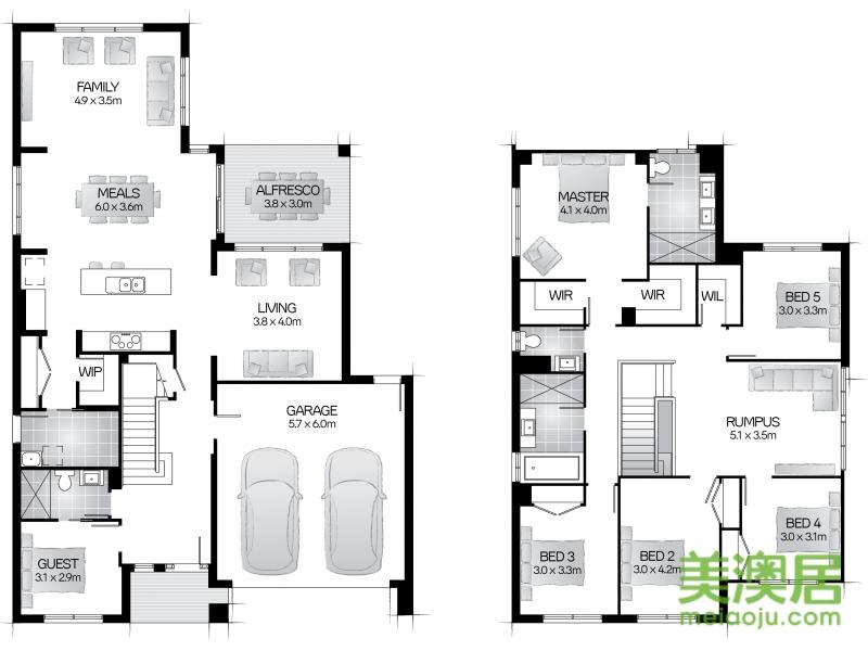 6卧平房设计图