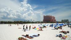 美国坦帕清水滩-最美盐白沙滩